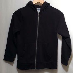 Old Navy boys sz 8 black zip up sweatshirt  (586)